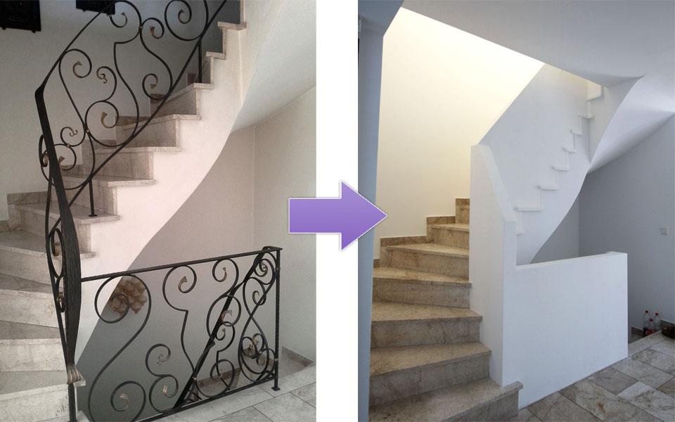 Treppenhaus modernisieren  HK Renovierung Aus einem Bad wurden zwei! - HK Renovierung